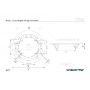 Scanstrut SC35 Satcom Antenna Mount