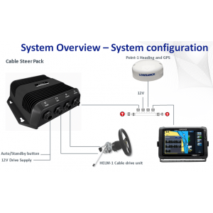 Outboard Autopilot Cable Steer Pack for SIMRAD & Lowrance