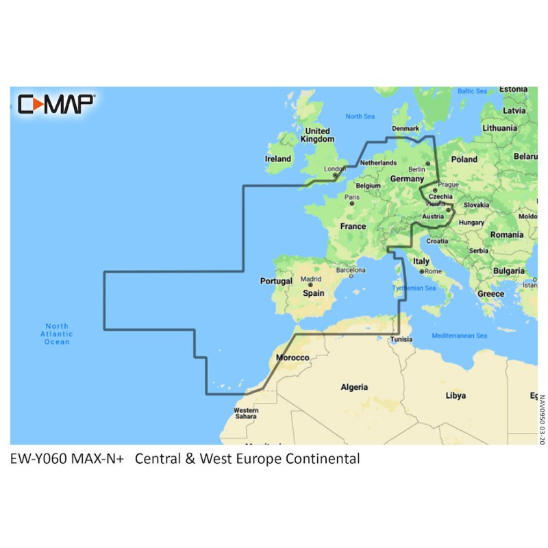 C-MAP DISCOVER Central and Western Europe