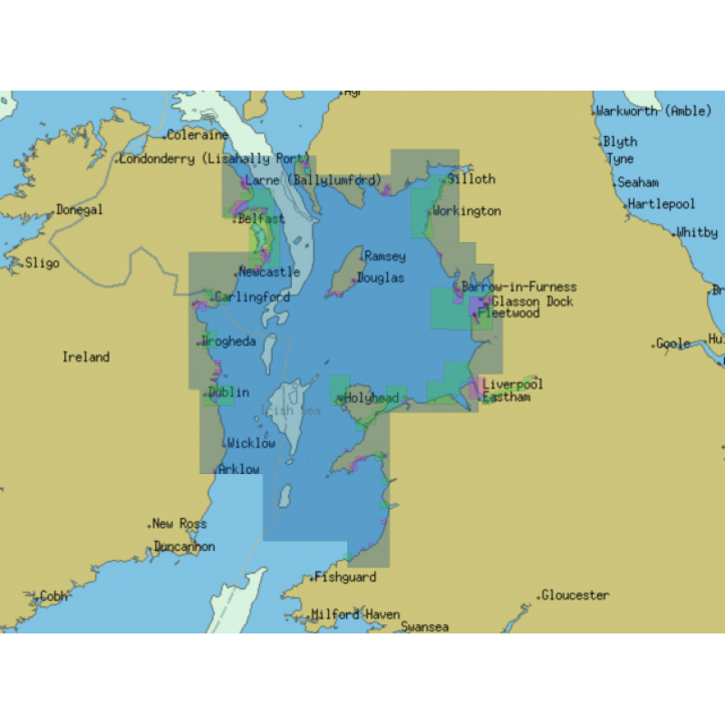 ChartWorld for Olex: Irish Sea (Northern Part)