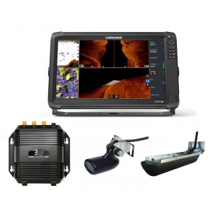 Lowrance HDS-16 Carbon with Mid/High/3D Bundle