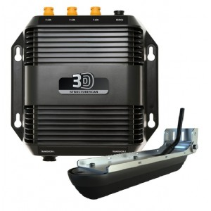 StructureScan 3D Echosounder Module with Transom-Mount Transducer
