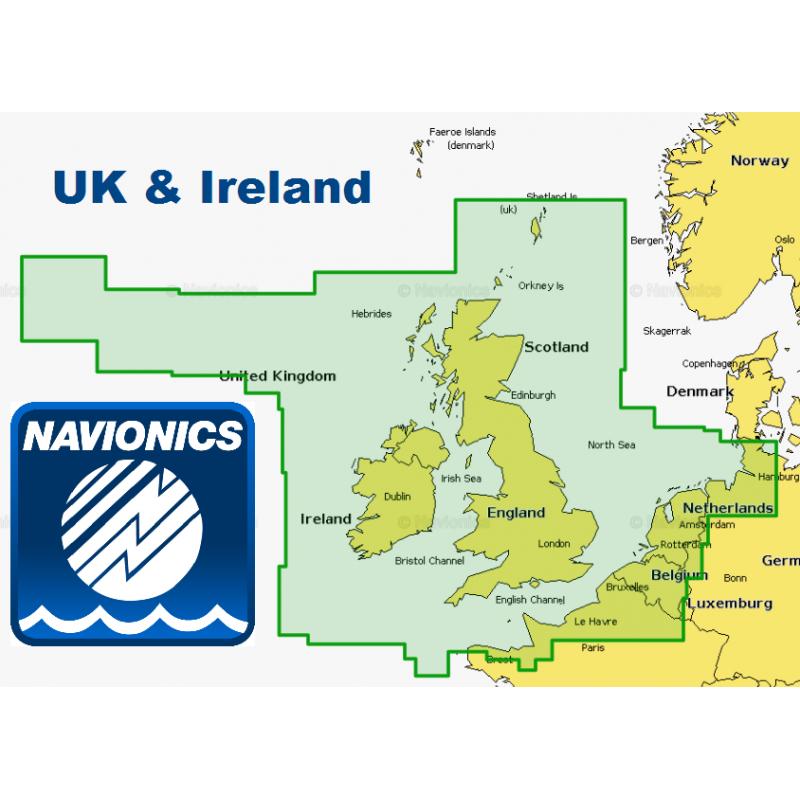 Navionics+ XL9 UK wide chart