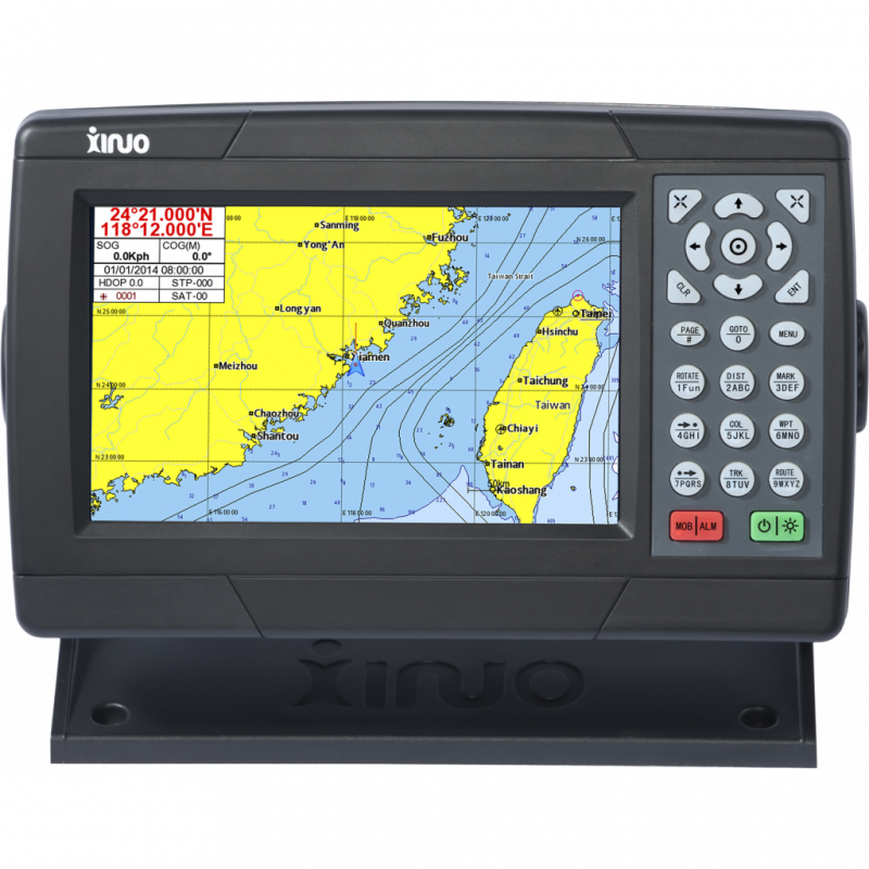 """Xinuo XF-608 7"""" GPS Chartplotter"""
