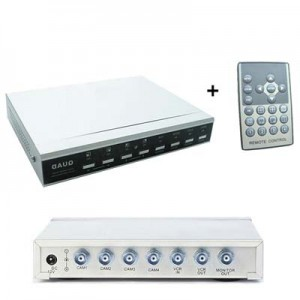 Quad 4-Channel CCTV Camera Switcher: Ex Service Use