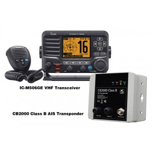 Icom IC-M506GE DSC VHF with CB2000 AIS Transponder