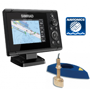 SIMRAD Cruise-5 with B45 Through-Hull Transducer and Navionics+ Chart