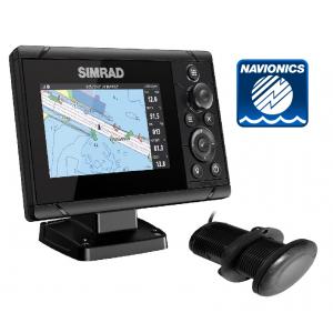 SIMRAD Cruise-5 with P319 Through-Hull Transducer and Navionics+ Chart