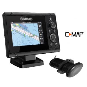 SIMRAD Cruise-5 with P319 Through-Hull Transducer and C-MAP Chart