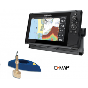 SIMRAD Cruise-7 with B45 Through-Hull Transducer and C-MAP Chart