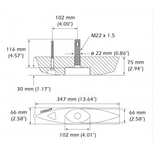 Airmar B45 600W 50/200kHz Transducer