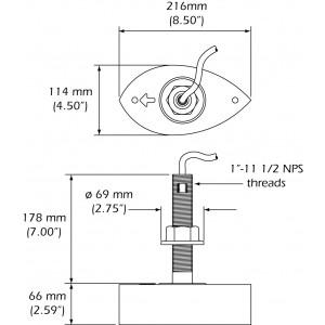 X-Sonic SS260 1kW 50/200kHz Thru-Hull Transducer