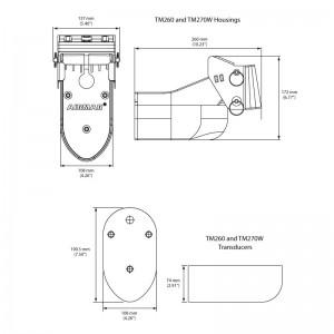 X-Sonic TM260 1kW 50/200kHz Transom Transducer