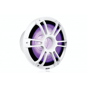 """Fusion 12"""" 1400 W Sports White Subwoofer with CRGBW LED Lighting"""