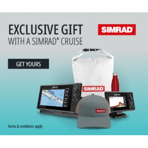 SIMRAD Cruise-5 with P319 Through-Hull Transducer and Navionics+ Chart