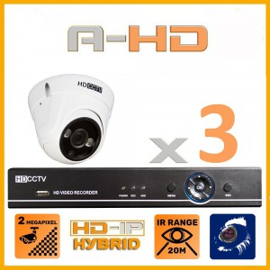 1080P Full HD Resolution 3 Camera System with 1 TB Hard Drive