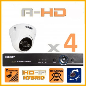 1080P Full HD Resolution 4 Camera System with 1TB Hard Drive