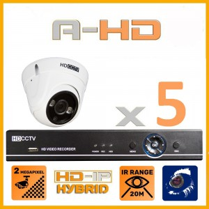 1080P Full HD Resolution 6 Camera System with 1TB Hard Drive