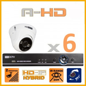 1080P Full HD Resolution 8 Camera System with 1TB Hard Drive